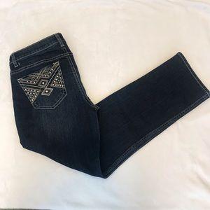 APT 9 Capri blue jeans Size 4